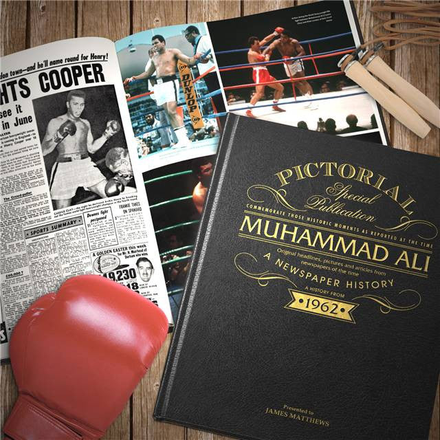 Personalised Muhammad Ali Luxury Newspaper Book - Personalised Gift Solutions - 1