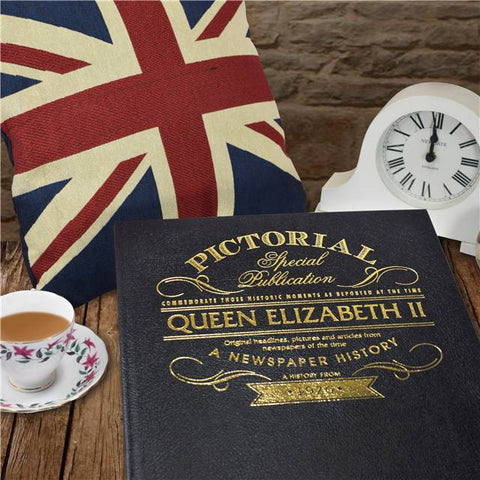 Personalised Queen Elizabeth II Luxury Newspaper Book