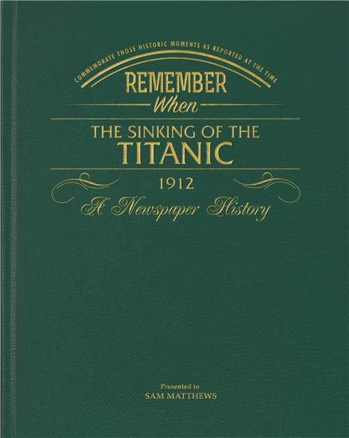 Personalised Titanic Newspaper Book - Personalised Gift Solutions - 1