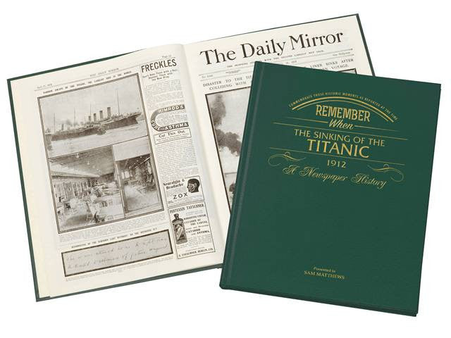 Personalised Titanic Newspaper Book - Personalised Gift Solutions - 2