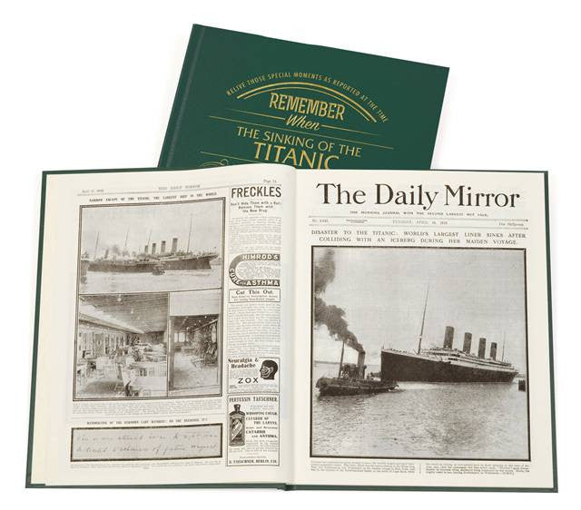 Personalised Titanic Newspaper Book - Personalised Gift Solutions - 3