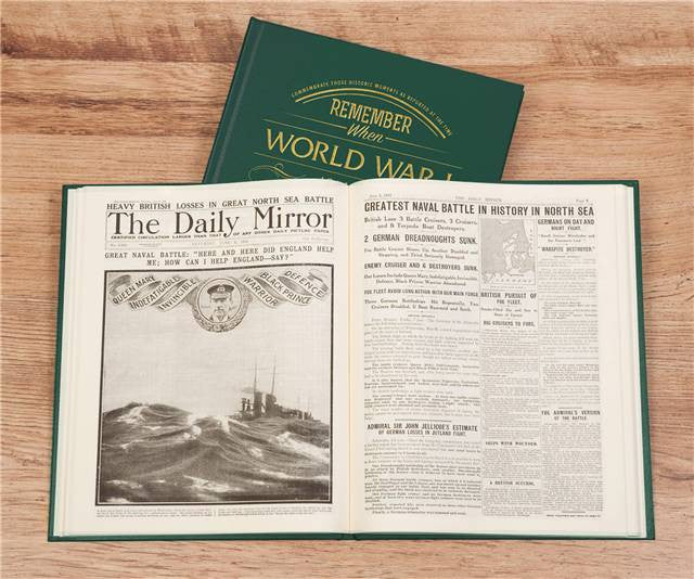 Personalised WW1 Newspaper Book - Personalised Gift Solutions - 4