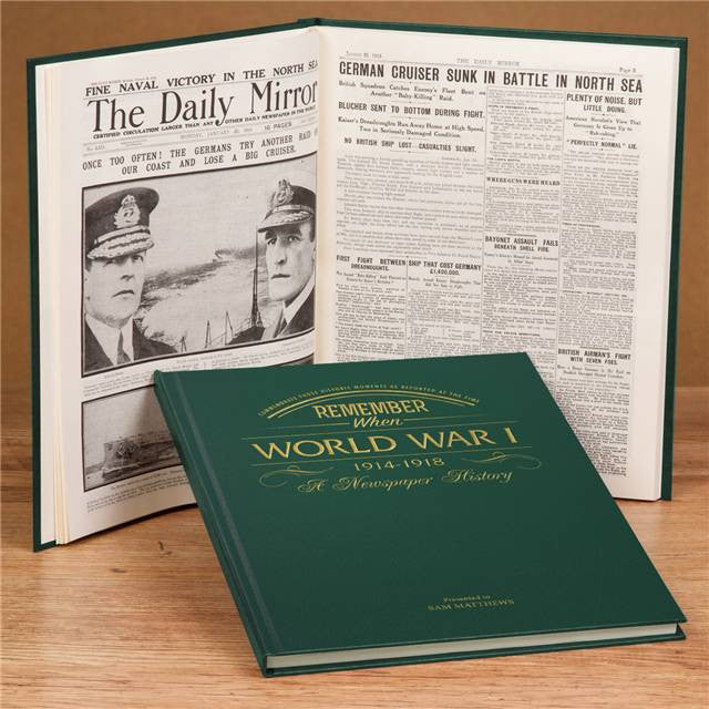 Personalised WW1 Newspaper Book - Personalised Gift Solutions - 2