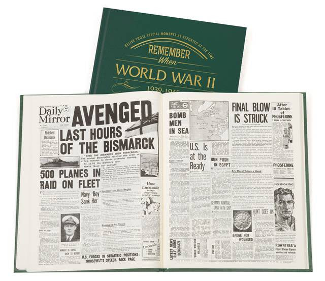 Personalised WW2 Newspaper Book - Personalised Gift Solutions - 4