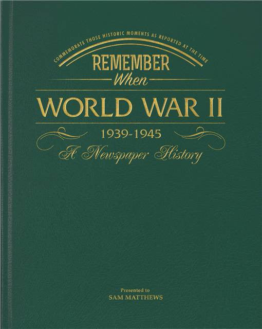 Personalised WW2 Newspaper Book - Personalised Gift Solutions - 1