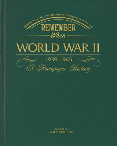 Personalised WW2 Newspaper Book