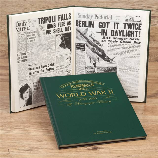 Personalised WW2 Newspaper Book - Personalised Gift Solutions - 2