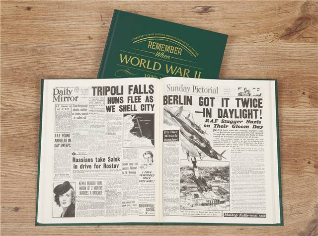 Personalised WW2 Newspaper Book - Personalised Gift Solutions - 6
