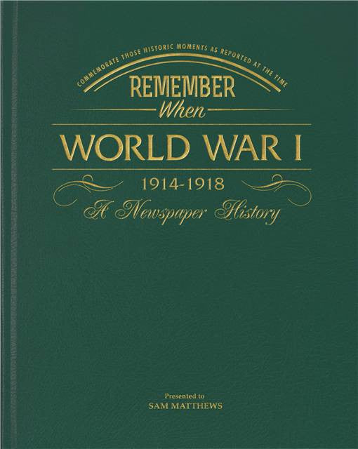Personalised WW1 Newspaper Book - Personalised Gift Solutions - 1