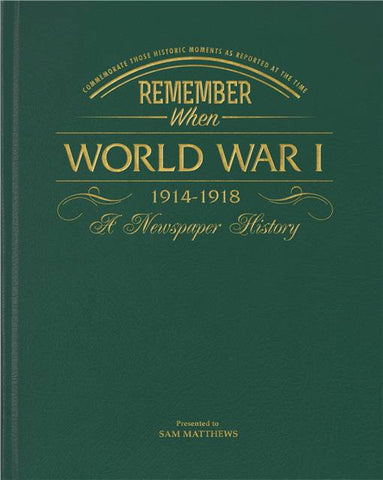 Personalised WW1 Newspaper Book