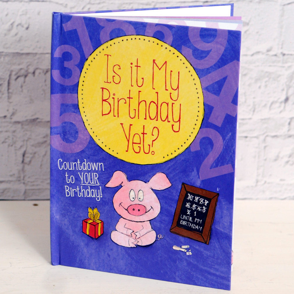 Personalised Is It My Birthday Yet Countdown Book - Personalised Gift Solutions - 1