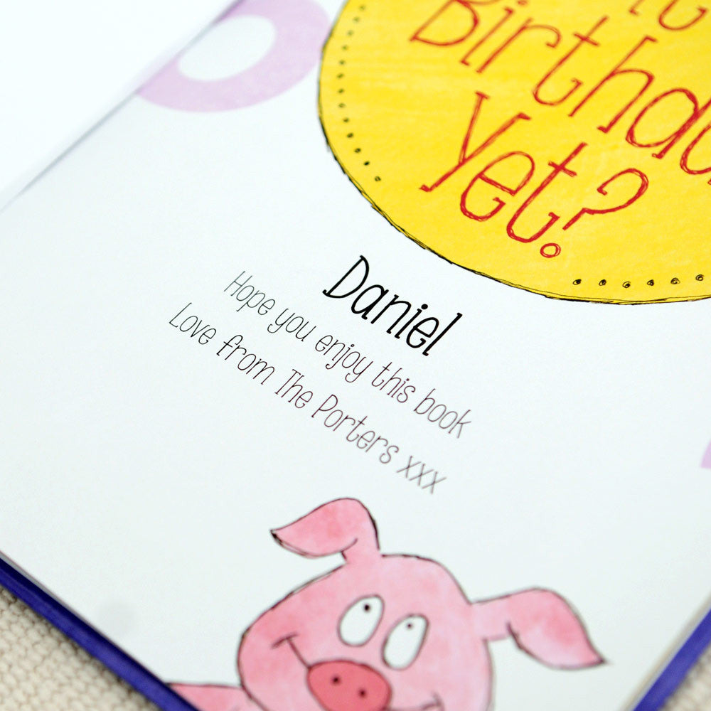 Personalised Is It My Birthday Yet Countdown Book - Personalised Gift Solutions - 2