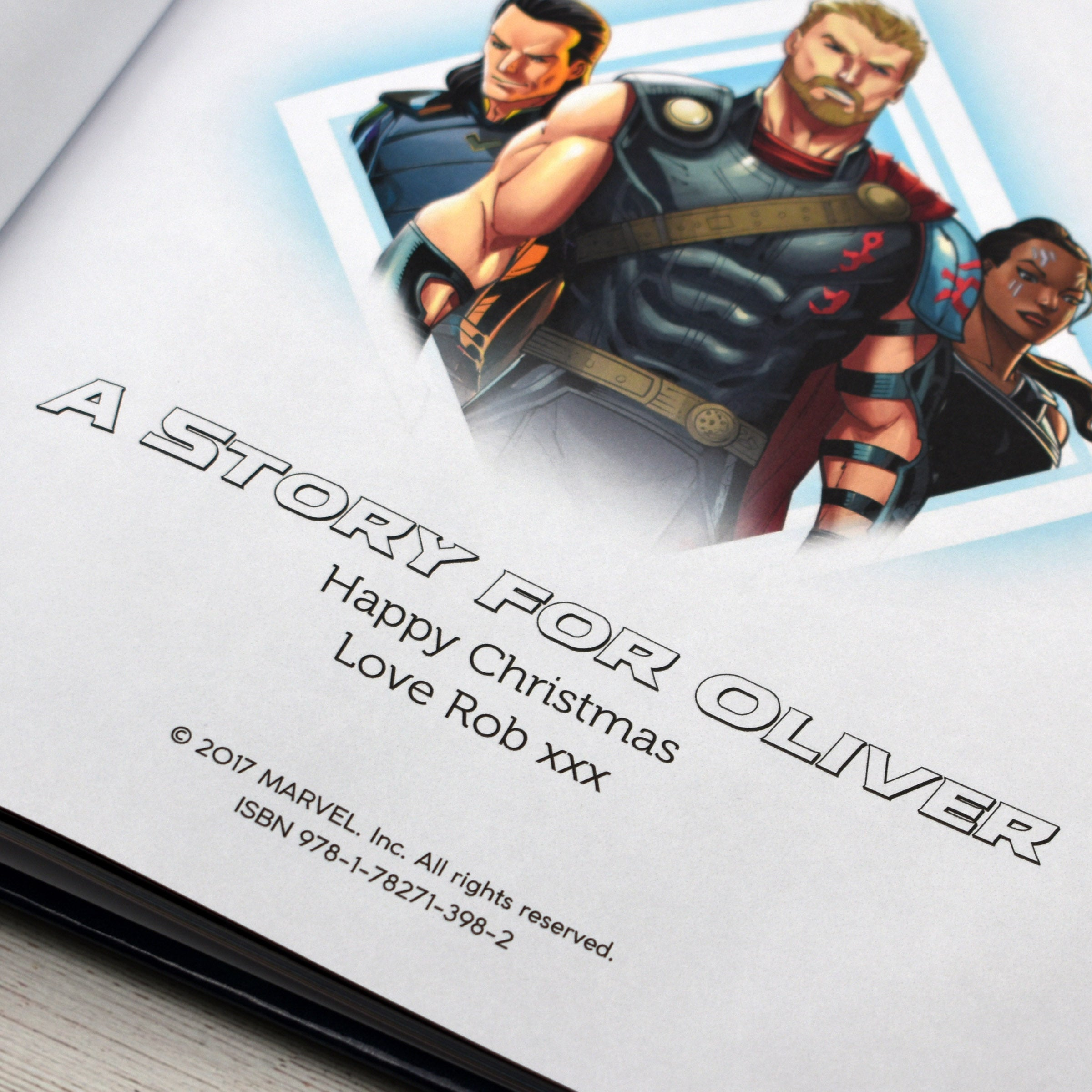 Thor Ragnarok Personalised Marvel Book