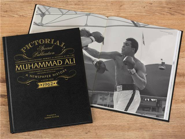 Personalised Muhammad Ali Luxury Newspaper Book - Personalised Gift Solutions - 5