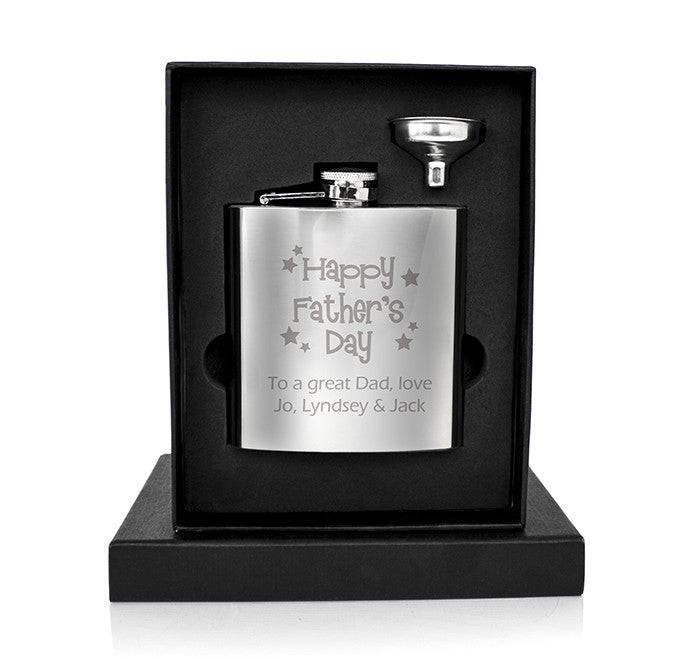 Personalised World's Best Dad Hip Flask - Personalised Gift Solutions - 2
