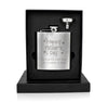Personalised Happy Father's Day Stars Hip Flask - Personalised Gift Solutions - 2