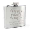 Personalised Happy Father's Day Stars Hip Flask - Personalised Gift Solutions - 1