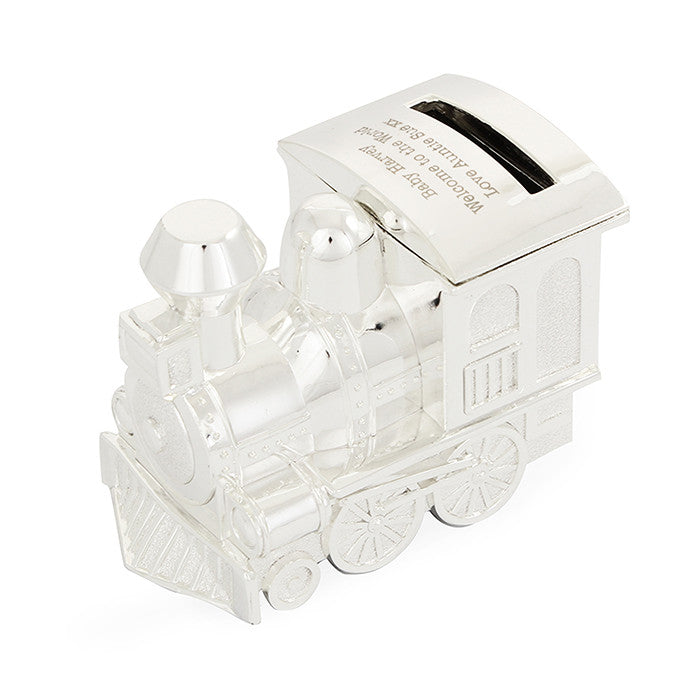 Personalised Silver Train Money Box - Personalised Gift Solutions - 5