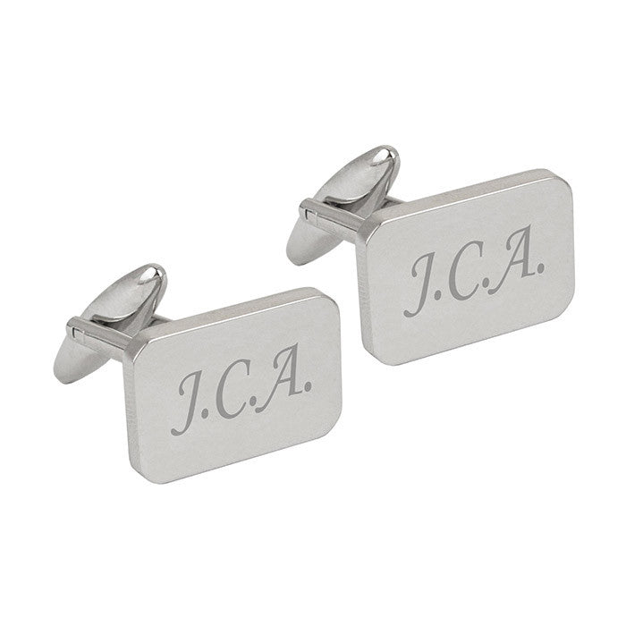 Personalised Rectangle Cufflinks - Personalised Gift Solutions - 1