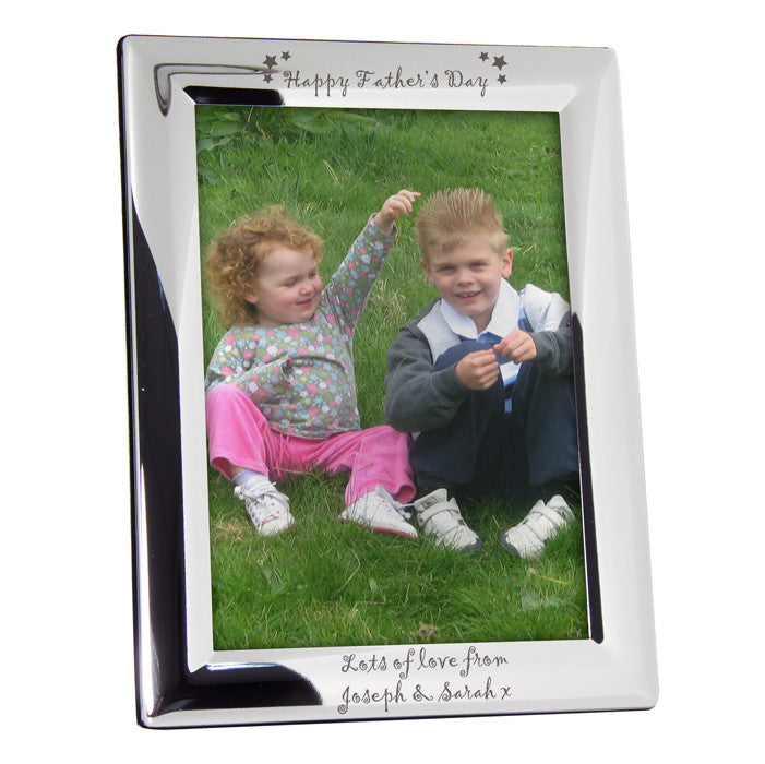 Personalised Happy Father's Day Silver Photo Frame (7x5) - Personalised Gift Solutions - 1