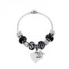 Personalised Galaxy Black Butterfly & Heart Charm Bracelet - Personalised Gift Solutions - 4