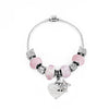 Personalised Candy Pink Butterfly & Heart Charm Bracelet - Personalised Gift Solutions - 3