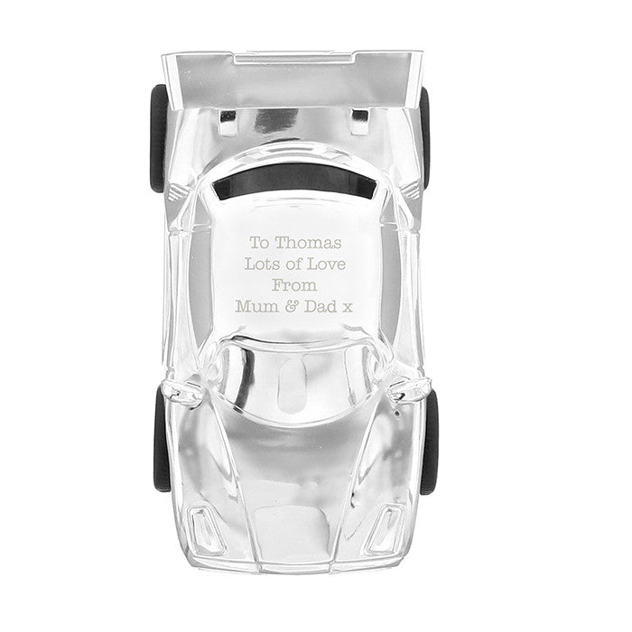 Personalised Silver Racing Car Money Box - Personalised Gift Solutions - 2