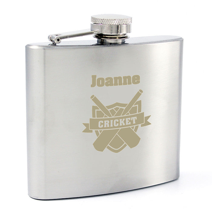 Personalised Cricket Hip Flask - Personalised Gift Solutions - 2