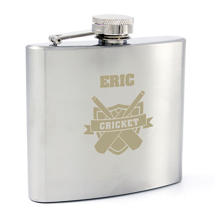 Personalised Cricket Hip Flask - Personalised Gift Solutions - 4
