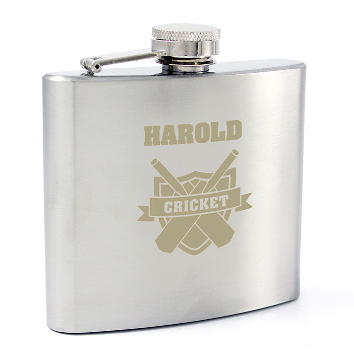Personalised Cricket Hip Flask - Personalised Gift Solutions - 7