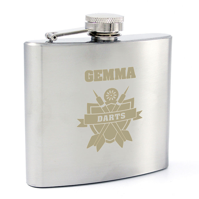 Personalised Darts Hip Flask - Personalised Gift Solutions - 6