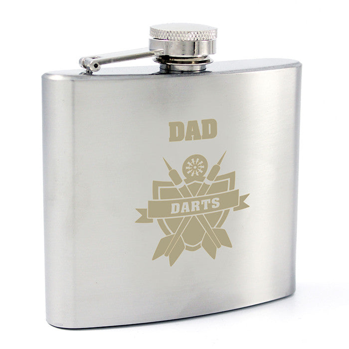 Personalised Darts Hip Flask - Personalised Gift Solutions - 7