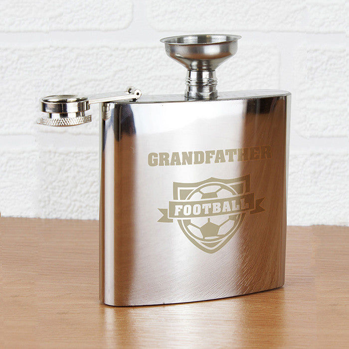 Personalised Football Hip Flask - Personalised Gift Solutions - 1
