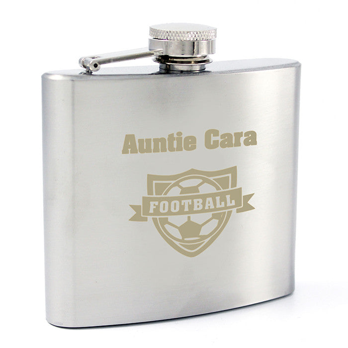 Personalised Football Hip Flask - Personalised Gift Solutions - 2