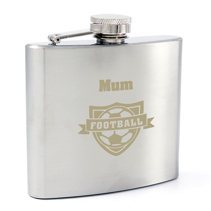 Personalised Football Hip Flask - Personalised Gift Solutions - 3