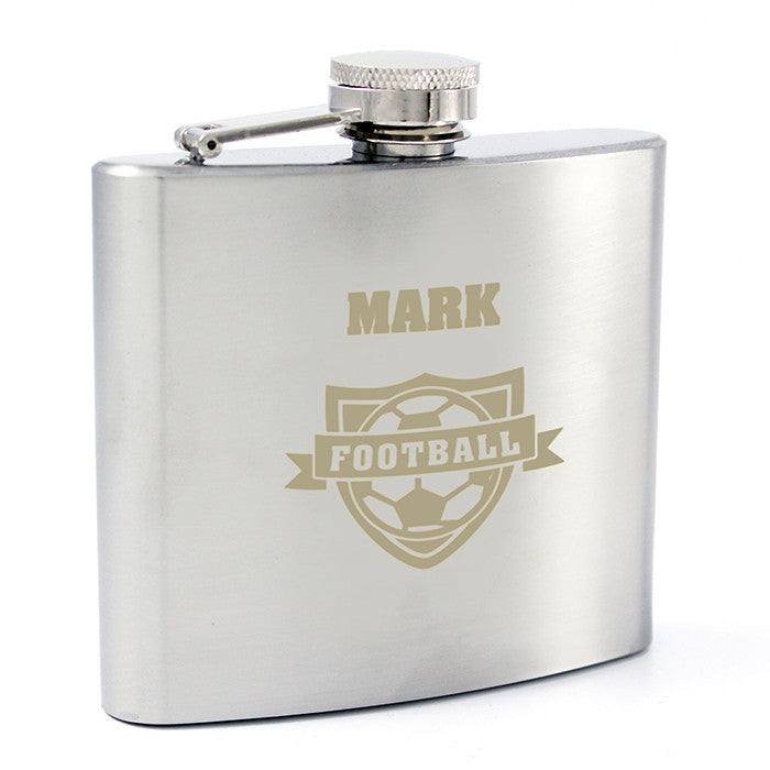 Personalised Football Hip Flask - Personalised Gift Solutions - 6
