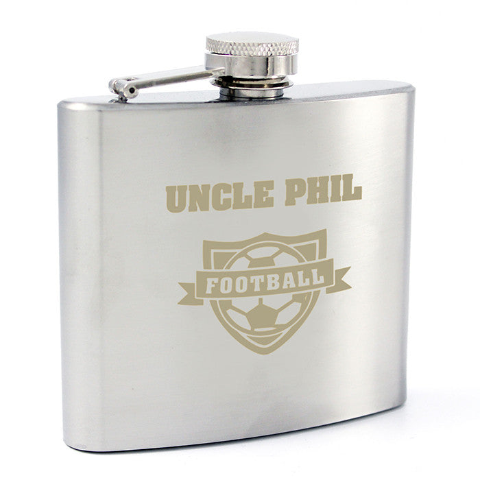 Personalised Football Hip Flask - Personalised Gift Solutions - 7