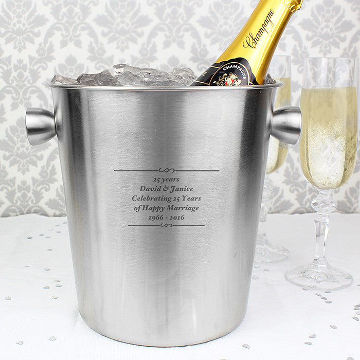 Personalised Stainless Steel Ice Bucket - Any Occasion