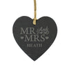 Personalised Mr & Mrs Small Slate Heart - Personalised Gift Solutions - 1