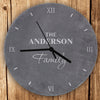 Personalised Family Slate Clock - Personalised Gift Solutions - 1