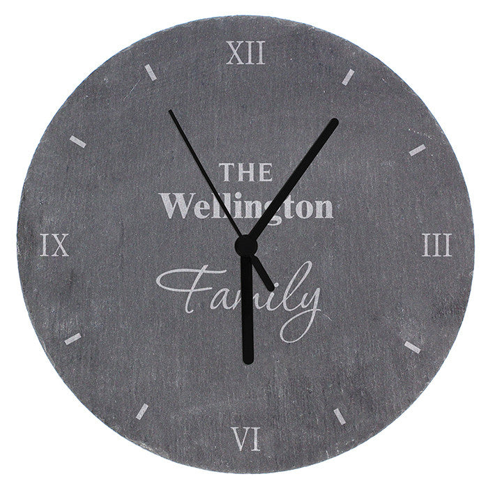 Personalised Family Slate Clock - Personalised Gift Solutions - 5