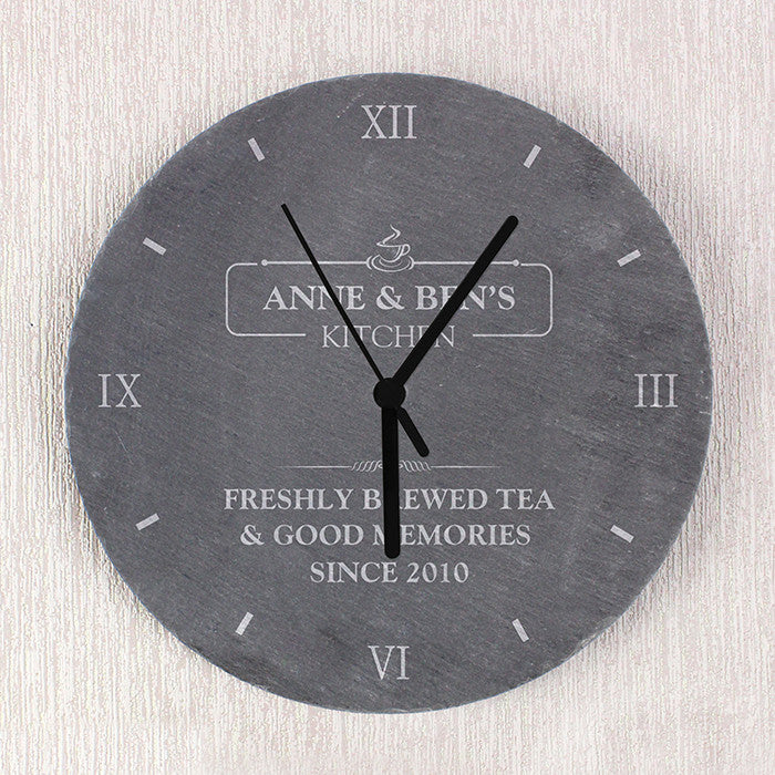 Personalised Kitchen Slate Clock - Personalised Gift Solutions - 3