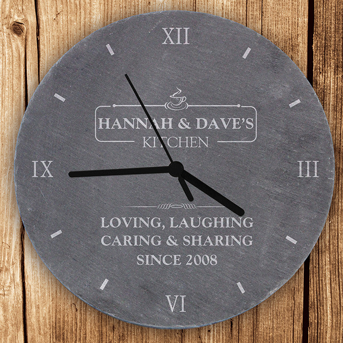 Personalised Kitchen Slate Clock - Personalised Gift Solutions - 1