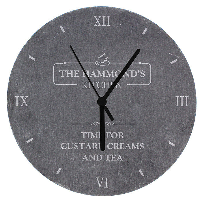 Personalised Kitchen Slate Clock - Personalised Gift Solutions - 4