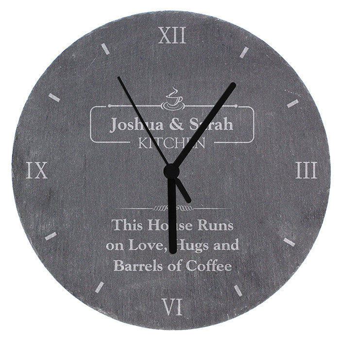 Personalised Kitchen Slate Clock - Personalised Gift Solutions - 5