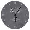 Personalised Mr & Mrs Slate Clock - Personalised Gift Solutions - 4