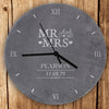 Personalised Mr & Mrs Slate Clock - Personalised Gift Solutions - 1