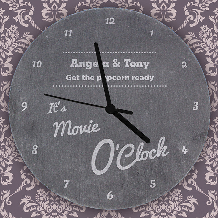 Personalised O'Clock Slate Clock - Personalised Gift Solutions - 3