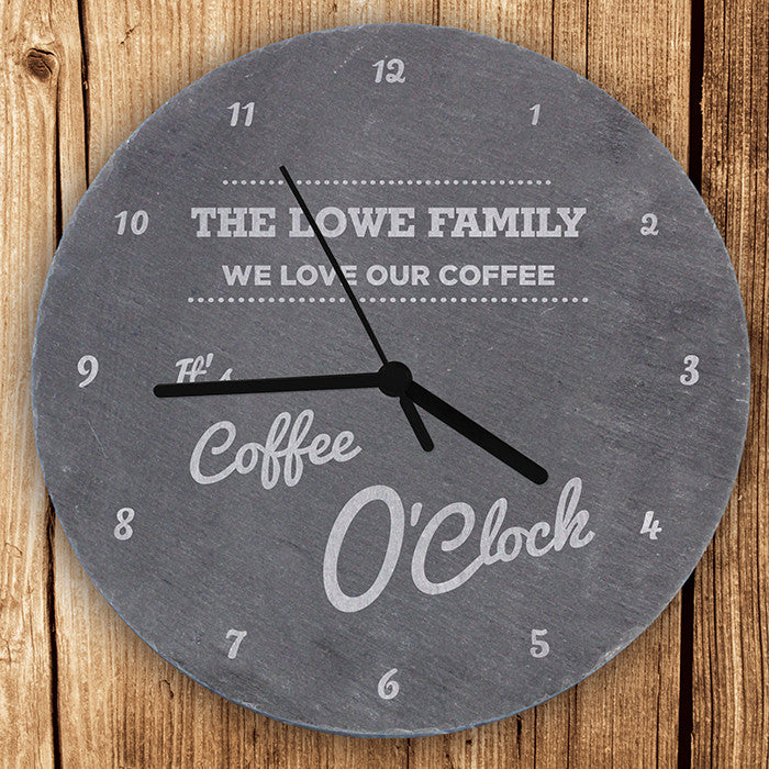 Personalised O'Clock Slate Clock - Personalised Gift Solutions - 2