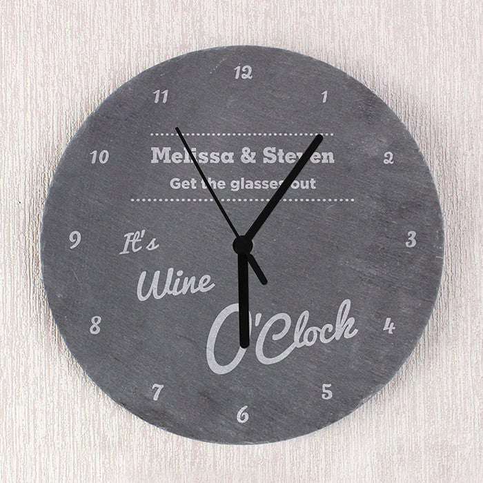Personalised O'Clock Slate Clock - Personalised Gift Solutions - 1